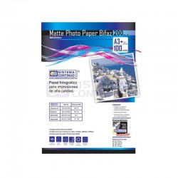 Papel Photo Matte 200gr Doble faz Resma A3+ x100 Hojas